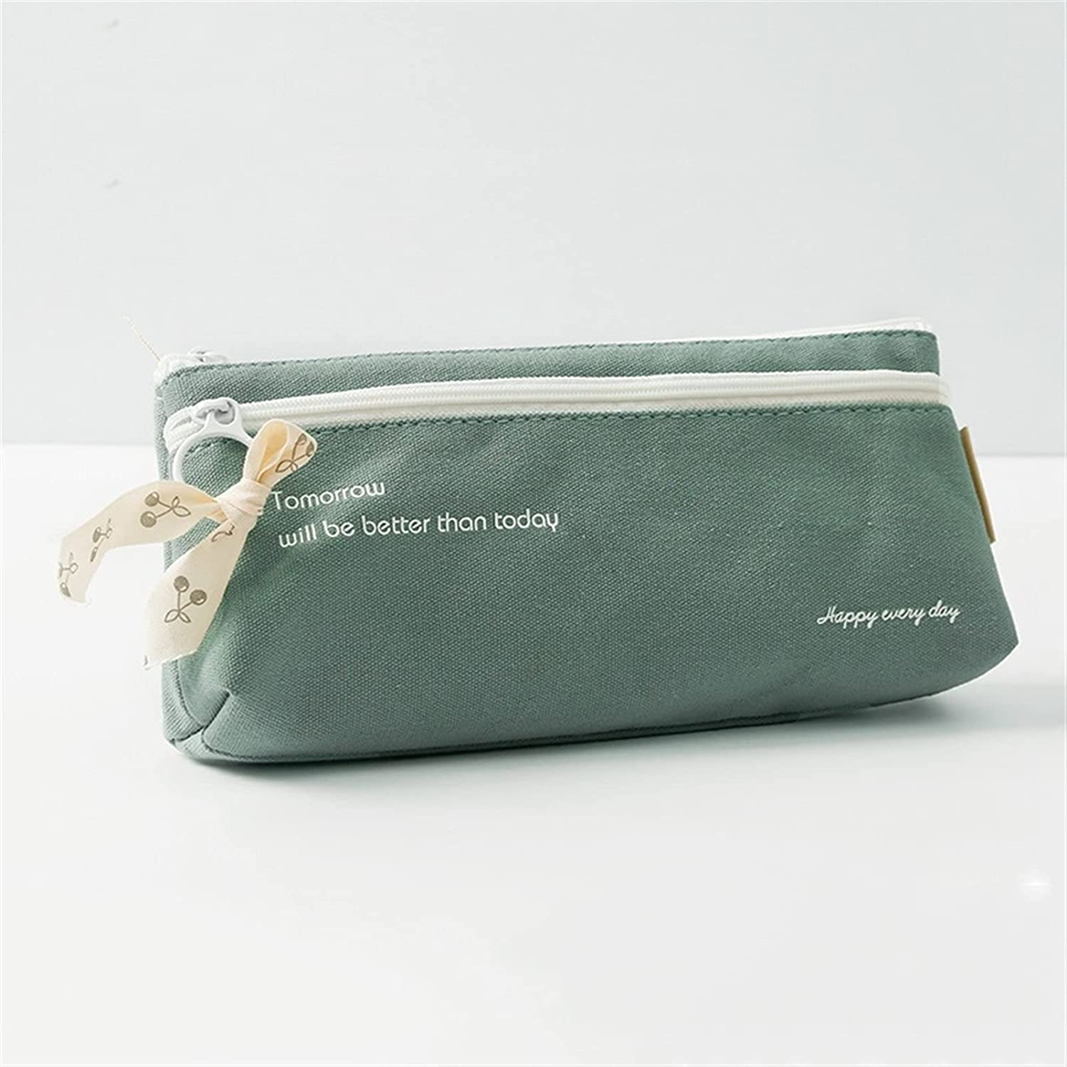 LKL Sale price Large Capacity Pencil Bag Layer Double Cases w Canvas Max 54% OFF