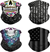4 pcs Seamless Half Face Cover Windproof Scarf Neck Gaiter Bandana Balaclavas