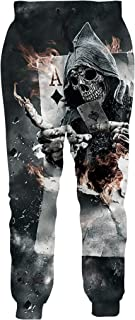 Cooleader Mens Womens Joggers Pants Funky 3D Graphic Sweatpants Novelty Sports Trousers with Drawstring