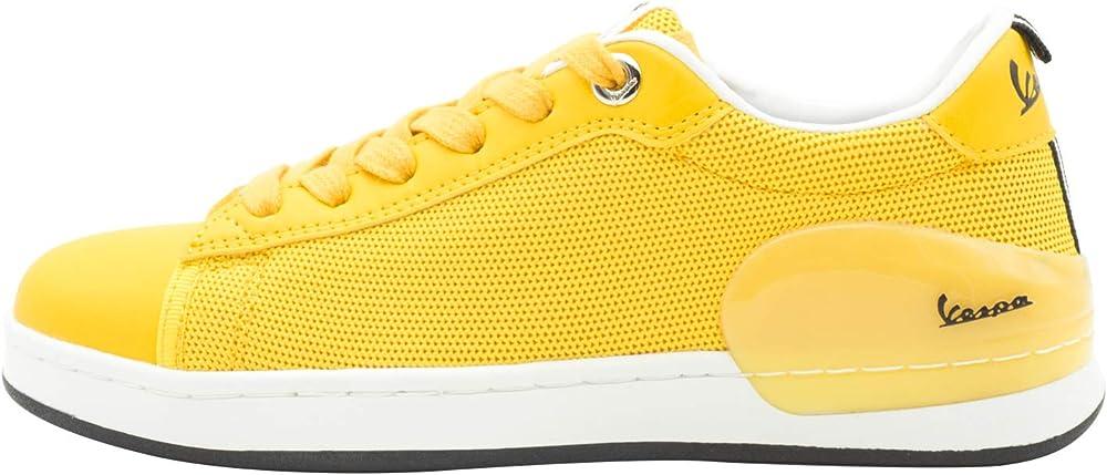 Vespa freccia, scarpe, sneakers per uomo, in pelle sintetica e tela, gialle V00005A