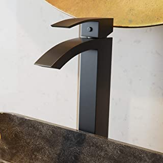 VIGO VG03007MB Duris Brass Bathroom Single Handle Seven Layer Plated Lavatory Vessel Faucet with Matte Black Finish for Vessel Sink