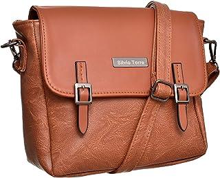 Silvio Torre Crossbody Bag For Women - Havana