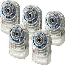 ZirconLeakAlert+ LED! WaterLeakDetector & Flood Sensor Alarm / WaterLeakSensor with DualLeakAlarms 90dB Audio + Flashing LED lights / Battery Powered (5 Pack) Batteries Included