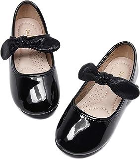 DeerBunny Toddler / Little Kid لباس دخترانه Mary Jane Ballet Flats Bow Flower Girl Party Wedding Ballerina Flat Shoes