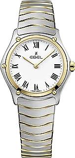 ساعة يد كلاسيكية رياضية من الستانلس ستيل والذهب عيار 18 قيراط بحركة كوارتز سويسرية للنساء من ايبيل 1216387a