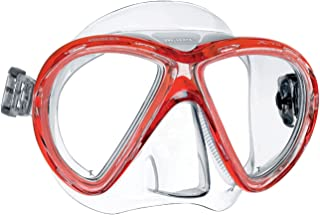 Mares X-Vu Scuba Diving Snorkelling Mask with Plastic Mask Box - Red