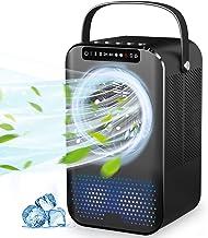 Climatiseur Portable,Mini Refroidisseur d'air avec Ventilateur Climatiseur Mobile Personnel pour Bureau Chambre 3 Vitesse...