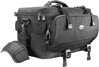 Mantona New York torba na zdjęcia (w zestawie 5 przegródek, zdejmowany pasek do noszenia i pokrowiec przeciwdeszczowy) czarna