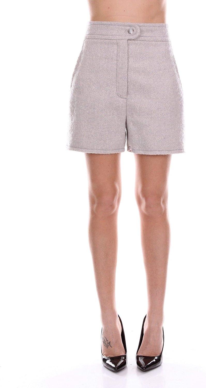 blueeMARINE Women's 14342GREY Grey Wool Shorts