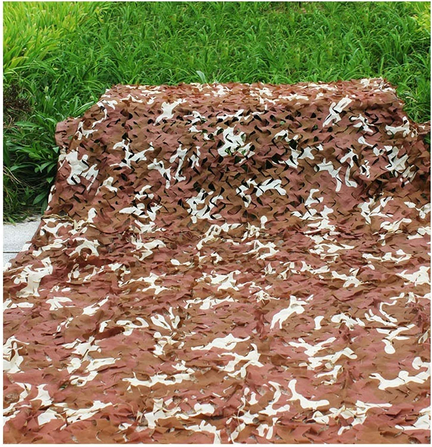 Camouflage Net Shade Net Hidden Net Predection Net CS Game Shooting Decoration Net Outdoor Tent Balcony Jungle Flower Plant Brown Camouflage MultiSize Optional (Size   6  6m)