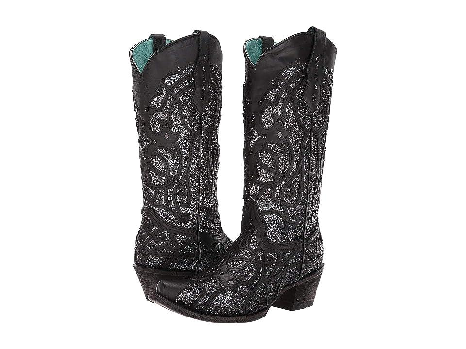 Corral Boots C3423 (Black) Cowboy Boots