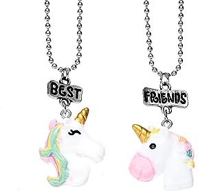 Onnea fashion 2 Packs BFF Best Friends Necklace Set for Kids Girls