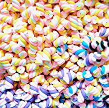 30pcs Assorted Slime Charms Rainbow Marshmallow Candy Heart Shaped Resin Charms Slices Flatback Buttons Cabochons for Handcraft Miniature Fairy Garden Accessories Scrapbooking DIY (roll)