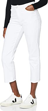 MERAKI Jean Slim Court Taille Normale Femme, Coton Organique