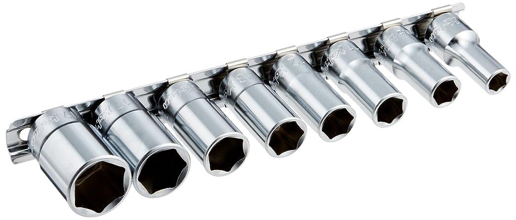 コーケン 3/8(9.5mm)SQ. 6角セミディープソケットレールセット 8ヶ組 RS3300X/8