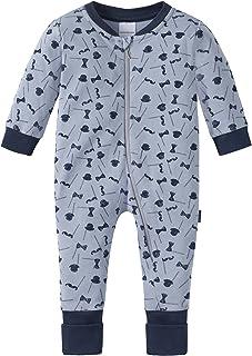 Schiesser Baby-Jungen Zirkus Strong Boy Anzug mit Vario Fuß Zweiteiliger Schlafanzug