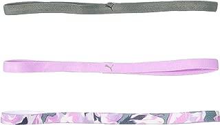PUMA Ladies Hairband 3er Pack, AT Sportbands Women, reversible hairbands, PUMA Logo