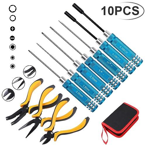 Precision Hex Screw Driver Set 7Pcs Box Spanner Mend Repair Tool Slot For RC Car