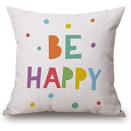 "JES&MEDIS Pillow Case Linen Cotton Cushion Throw Pillow Cover Square 18"" x 18"""