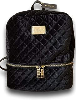 bebe black backpack purse