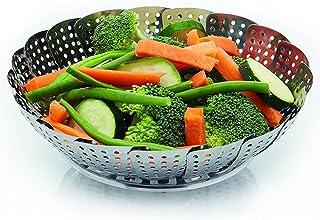 Steam Cooking - Vaporizador de verduras, plegable, acero inoxidable - Cesta de vapores vegetales