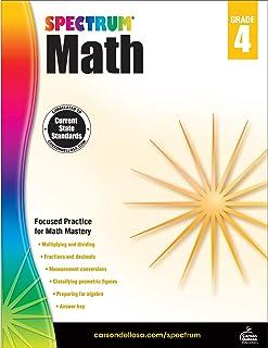Spectrum | Math Workbook | 4th Grade, 160pgs