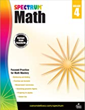 Spectrum Fourth Grade Math Workbook – Multiplication, Division, Fractions, Decimals Mathematics With Examples, Tests, Answ...