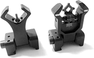 AAO Ar Tactical Flip up Front and Rear Iron Sights Set for Picatinny Rails