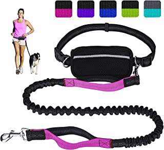 Pet Net Cloth Sports Bag Elastic Belt Hands Free Retractable Leash Running Walking Set For Large Small Dog Street Price Home & Garden Dog Collars & Leads