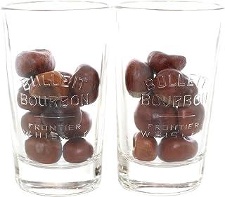 Bulleit Bourbon Whisky Gläser 2er Set Relief-Glas geeicht 2/4 cl ~mn 919 0971