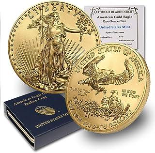 2020 1 oz Gold American Eagle (w/Box & COA) By CoinFolio $50 Brilliant Uncirculated