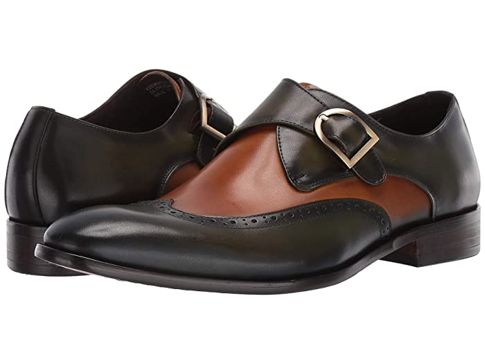 Steampunk Boots and Shoes for Men Carrucci Cosmopolitan OliveCamel Mens Shoes $73.26 AT vintagedancer.com