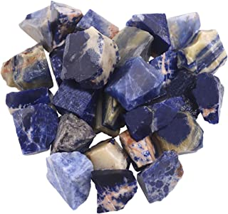 """Swpeet 1 lb 0.8-1.5"""" Blue Pattern Stone Crystal Gemstone Chips Crushed Pieces Irregular Shaped Stones for Cabbing, Tumblin..."""