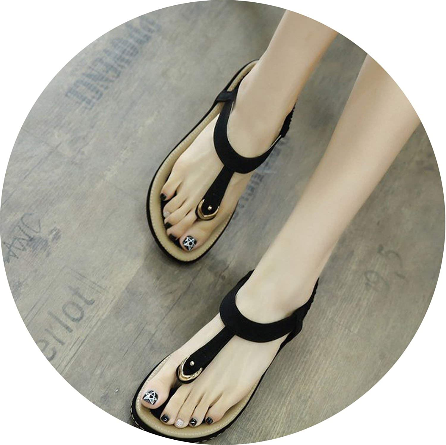 Glad You Came Summer shoes Women Bohemia Ethnic Flip Flops Soft Flat Sandals Woman Casual Comfortable Plus Size Wedge Sandals 35-45