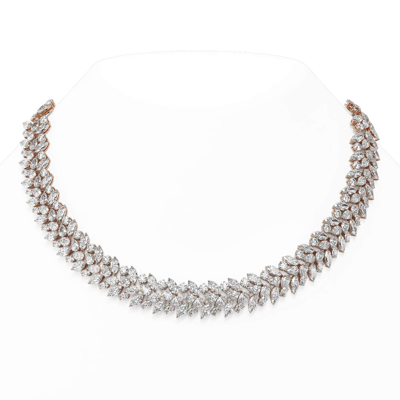 113 Max 77% OFF ctw Mix Cut Designer 18K Diamonds Necklace specialty shop