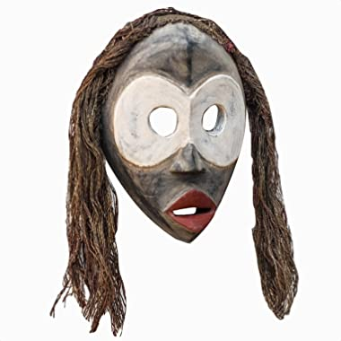 Hand Carved Dan Tribe African Mask Wall Decor, Lighted: No, Hand-Crafted