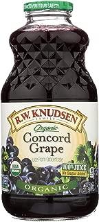 R.W. KNUDSEN, Juice, Og2, Concord Grape, Pack of 6, Size 32 FZ, (Gluten Free GMO Free 95%+ Organic)