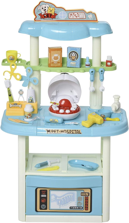 Max 55% OFF Qaba 43 PCS Fashion Pet Vet Dentist Set Playset D Children's Medical Toy
