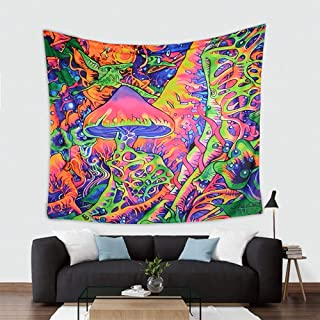 American Trends Psychedelic Tapestry Mushroom Colorful Trippy Wall Tapestry Psychedelic Hippie Art Tapestry Wall Hanging Home Decor L