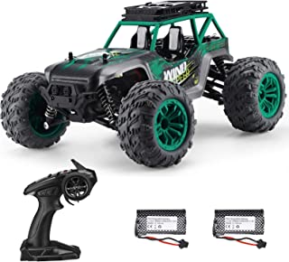 Powerextra RC Cars, G168 High Speed 36 KM/H Remote Control Car, 1:14 Scales 4WD Off Road Truck with 2 Batteries, 45+ Mins Play Car Gift for Boys & Girls (Green)