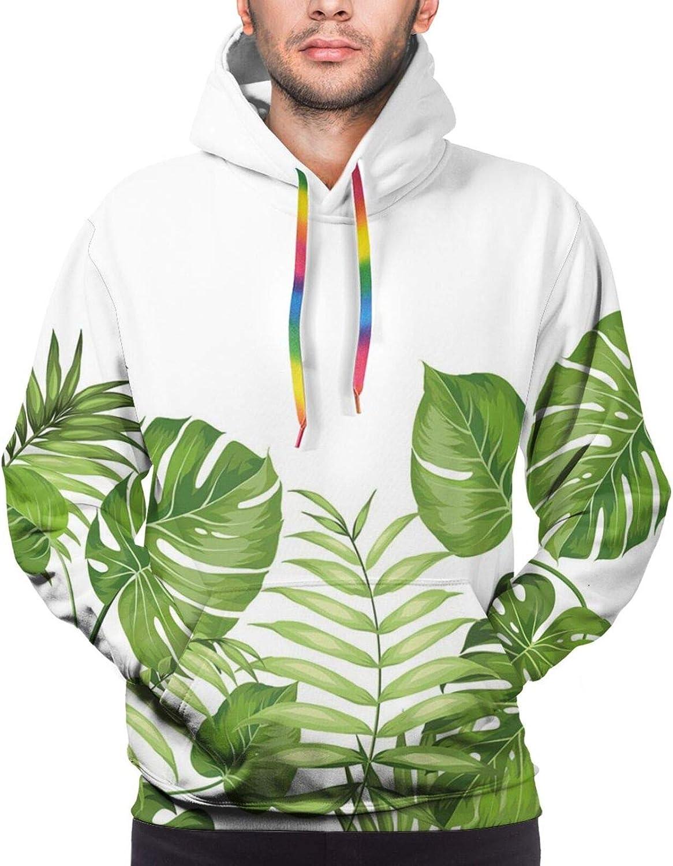 Men's Hoodies Sweatshirts,Nature Inspired Watercolor Paintbrush Spring Yard Psychedelic Artwork