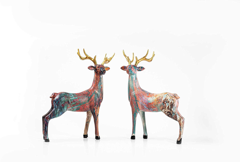 Unique Deer Statues Home Decor,Modern Style Sculpture for Bedroom, Office Desktop,Gift for Friend, Decor Living Room, Bedroom, Office Desktop, Cabinets (Reindeer)