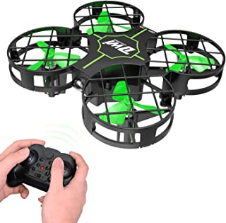 Dwi Dowellin Mini Drone Crash Proof RC Small Quadcopter One Key Take Off Landing Flips Rolls Nano Drones Toy for Kids Beginners Children Boys and Girls, Green