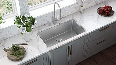 Ruvati 31-inch Undermount Kitchen Sink 16 Gauge Stainless Steel Single Bowl - RVM5931