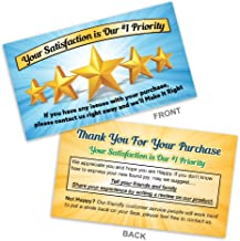 Thank You for Your Purchase - Feedback Request Cards for online sellers