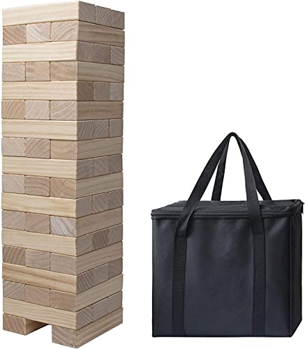 lowest Giant Tumble wholesale Tower, lowest Pine Wooden Topple Game Classic Block Stacking for Kids Adults Family,54 PCS outlet sale