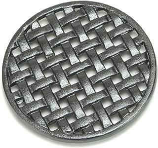 Minuteman International Round Lattice woodstove Tabletop cast Iron Trivet, Black