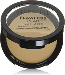 Marcelle Flawless Pressed Powder, Nude Beige, Hypoallergenic and Fragrance-Free, 0.25 oz