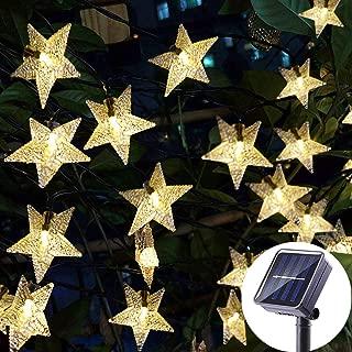 MAOTRENT Twinkle Star Solar String Lights 401ft 100 LED Waterproof 8 Modes of Solar String Lights Indoor Outdoor Decoration Lights Garden Party Festival Decoration Lights
