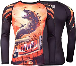 Tatami Godzilla Rash Guard Long Sleeve No-Gi Jiu Jitsu Compression BJJ MMA